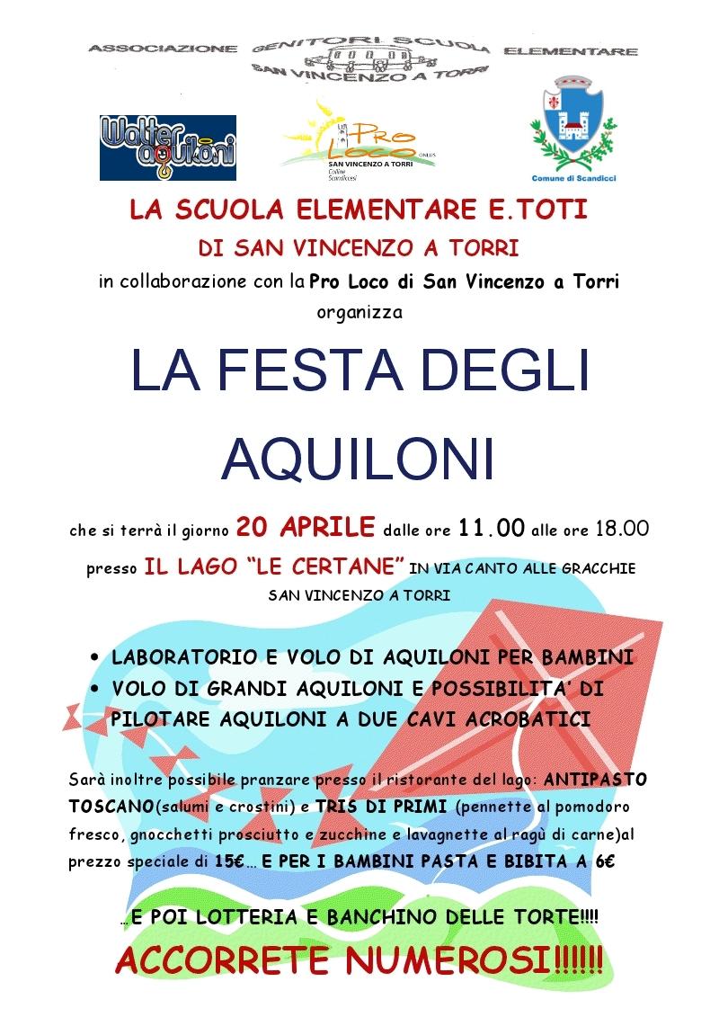 festa degli aquiloni manifesto