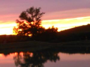 tramonto lago